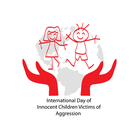 Día Internacional de los Niños Inocentes Víctimas de Agresión Ilustración de vector