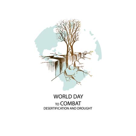 Welttag zur Bekämpfung von Wüstenbildung und Dürre Vektorgrafik