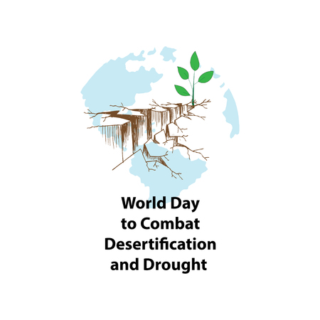 World Day to Combat Desertification and Drought Stock Illustratie