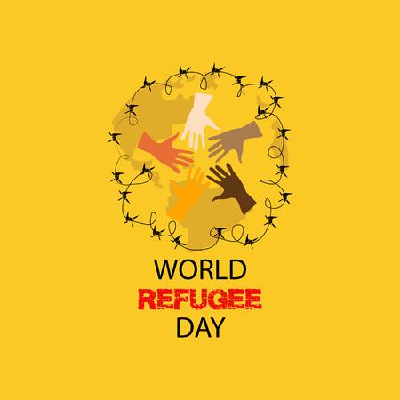 Journée mondiale des réfugiés. 20 juin.