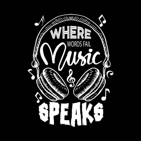 Where words fail, music speaks. Music quote by Hans Christian Andersen