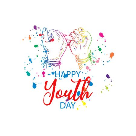 International Youth Day concept. August 12 Иллюстрация