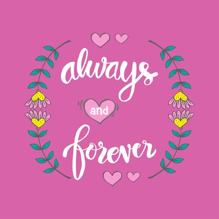 Always and Forever hand lettering for your design