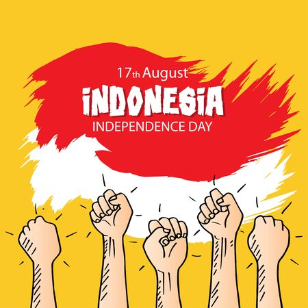 Independence day celebration of Indonesia. August 17.