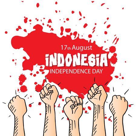 Celebración del día de la independencia de Indonesia. 17 de agosto.
