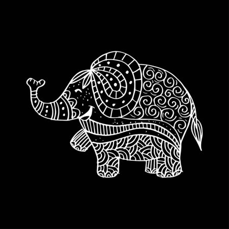 Elephant decorative illustration.