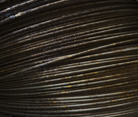 rusty wire: old rusty wire close-up Stock Photo