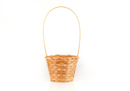 Isolating the basket on a white background photo