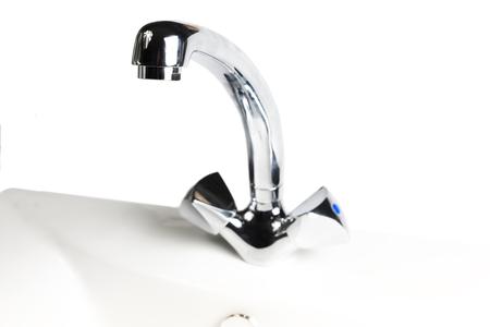 Washbasin isolated on white  photo