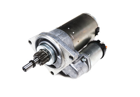 car starter isolated on white background 写真素材