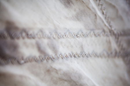 stitching thread sail closeup