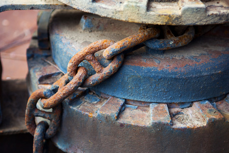 old rusty iron chain closeup Stock fotó