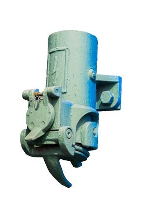 白い背景で隔離の電気コネクタ