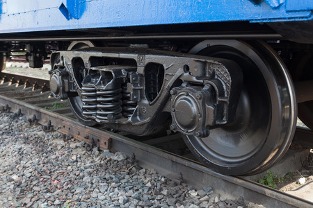 railway wheelset closeup