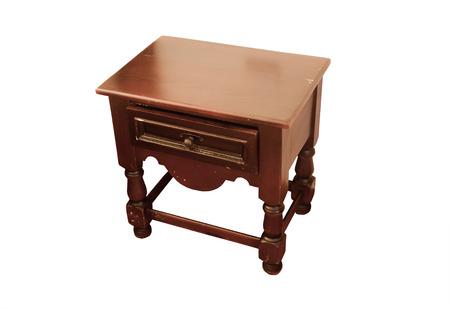 白い背景で隔離のベッドサイド テーブル 写真素材