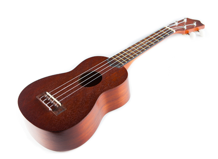 musical instrument ukulele on a white background Banco de Imagens