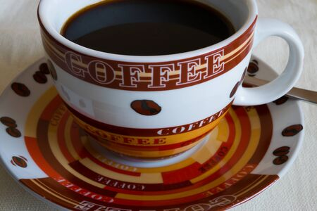 wakening: Morning black coffee Stock Photo
