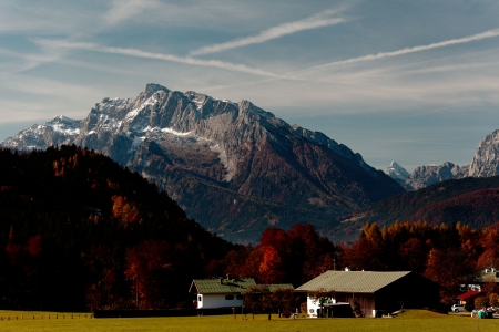 berchtesgaden: Berchtesgaden Alps meadows autumn Germany