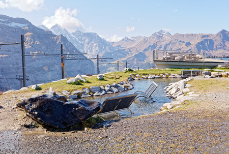 Fallboden station and Fallbodensee (Fallboden lake) - Fallboden, Jungfrau Region, Switzerland