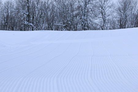 mount price: the surface of the ski slopes Stock Photo