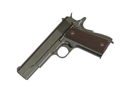 pellet gun: pneumatic gun on a white background. February 23