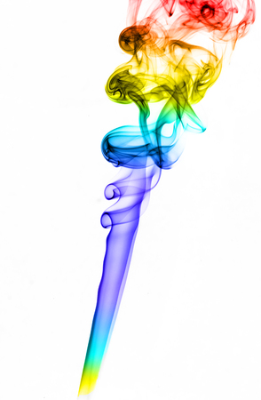colored smoke: image colored smoke on white background. Isolated color smoke