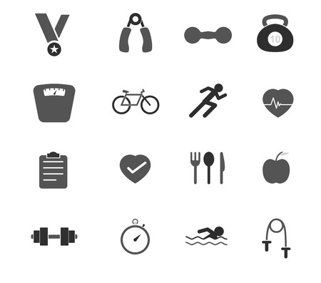 Fitness Icons Illustration