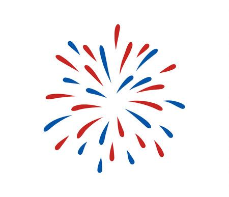 fourth of july: July fourth fireworks Illustration