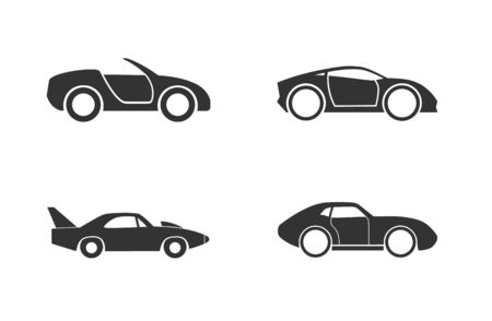 Sports car icon Illustration