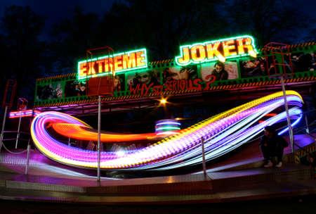 thrilling: Fairground ride light painting Editorial