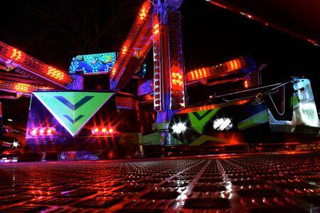 fairground: Fairground carriage at night