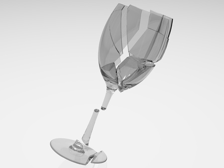 Wine glass falling and hitting the ground  photo