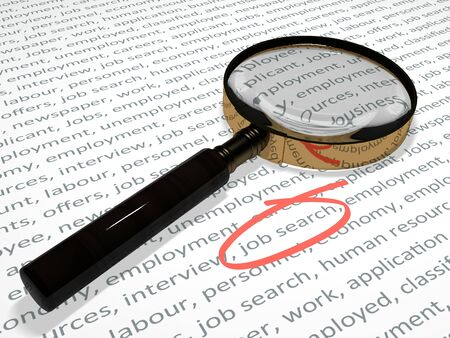 Searching for a job. photo