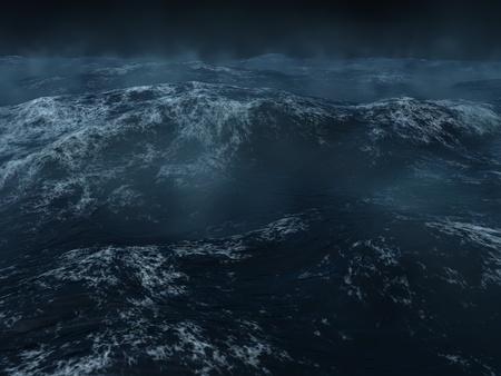 mares: Oc�ano paisaje, los mares oscuros y pesados ??en el Atlanticc norte.