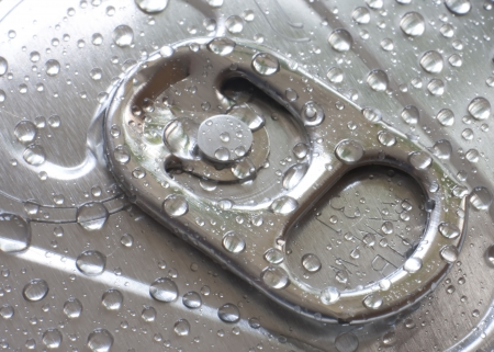 A ring pull on a cold can of drink Stock Photo - 14388340