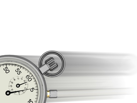 chronometer: Stop watch going fast with blur with white background Stock Photo