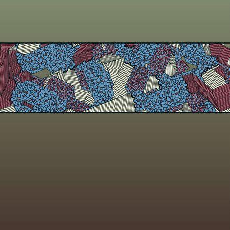 hosszú expozíció: Absztrakt utak beállítva Illusztráció