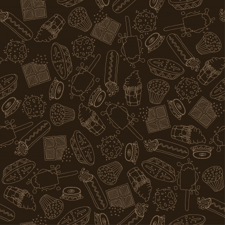 Sweet stuff set -  Colour, beige lines, white lines label , Stickers,  Colour, beige lines, white lines patterns Stock Vector - 18160158