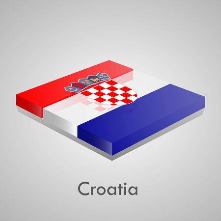 European flags set  glossy bricks