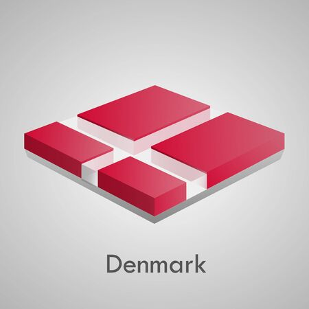 European flags set  glossy bricks  Stock Vector - 18266718