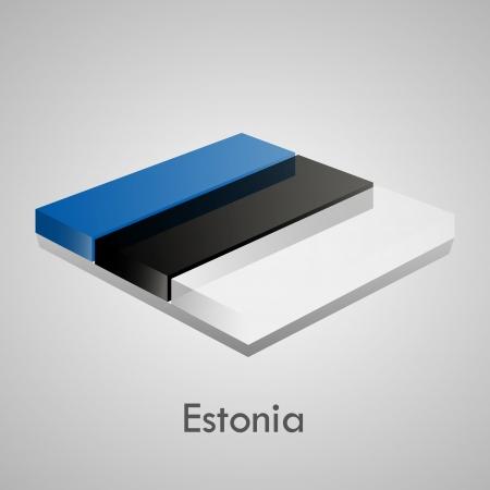 European flags set  glossy bricks Stock Vector - 18266724