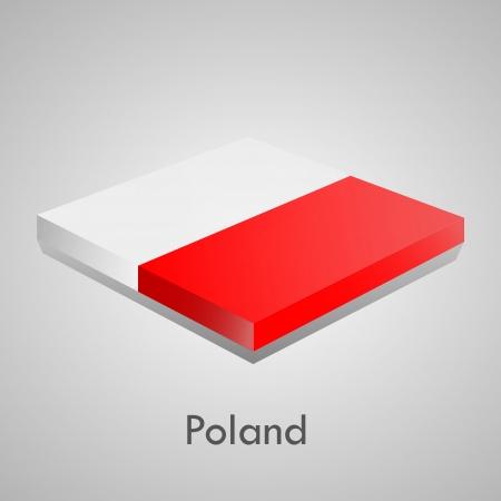 European flags set  glossy bricks  Vector