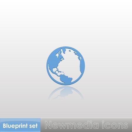 Blueprint set - Newmedia icons