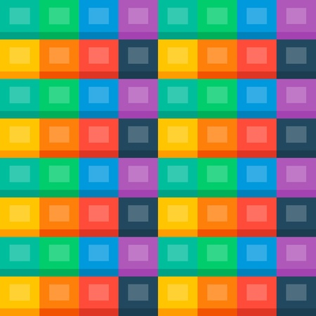 Flat background  seamless pattern, colourful cubes