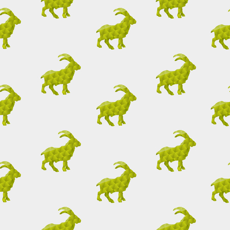 Abstract goat isolated on a white background  Seamless pattern Illustration