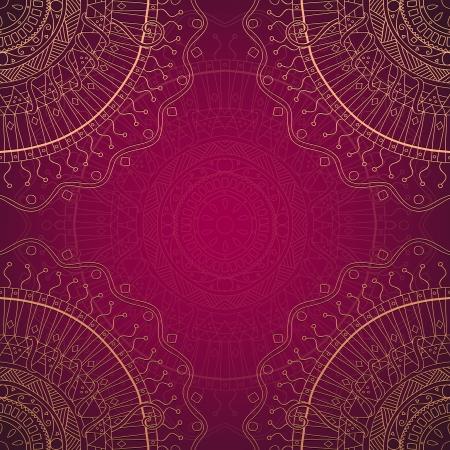 Grunge lace ornament