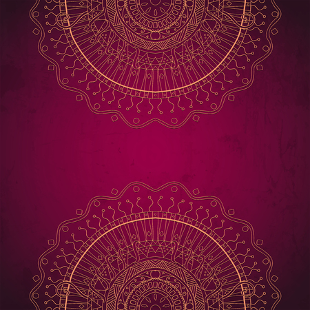 Grunge lace ornament   Vector