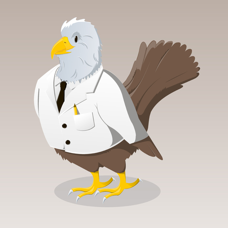 Cute cartoon bird in jacket Vector