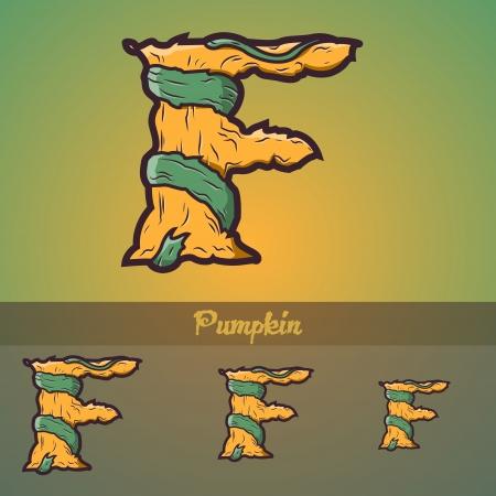 awful: Halloween decorative alphabet - Tree & roots. Illustration