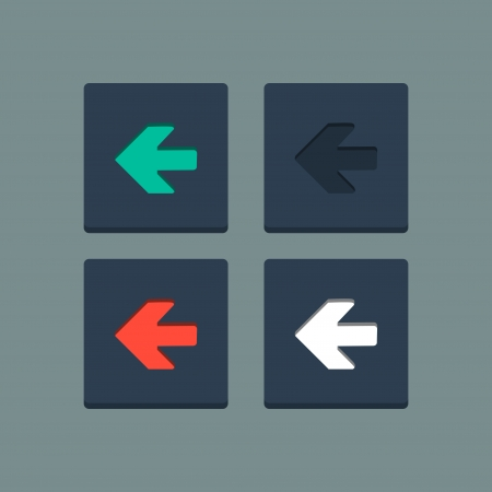 newest: Simple stamp flat arrow icons